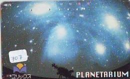 Télécarte Japon ESPACE * Phonecard JAPAN  (707) SPACE SHUTTLE * COSMOS * WELTRAUM * LAUNCHING * PLANETARIUM - Ruimtevaart