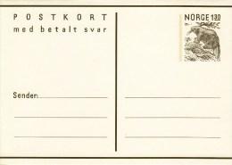 P 180** Postkort  130 öre - Biber Frage Und Antwortkarte - Postwaardestukken