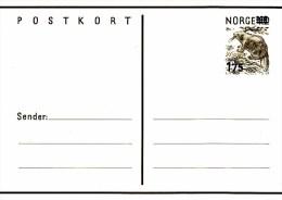 P 181** Postkort 1,75 Auf 1,30 öre  Biber - Postwaardestukken