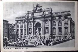 ROMA Fontana Di Trevi - Formato Piccolo VIAGGIATA  Nel 1938 - Fontana Di Trevi