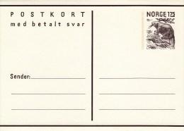 P 184** Postkort  1,75/1,75 öre  Frage Und Antwortkarte -   Biber - Postwaardestukken