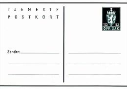 """DP 54** Postkort  1,75 öre -   Dienst Postkarte  Löwenwappen Mit Inschrift """"OFF.SAK"""" - Postwaardestukken"""