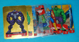 Small Collection Of 10 Marvel Heroes Lamincards- Edibas, 2008 - Marvel