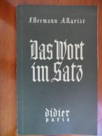 """Das Wort Im Satz """"nouveau Vocabulaire Systématique"""" Allemand-Français (F. Bermann / A. Ravizé) De 1950 - Livres Scolaires"""