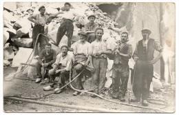 Carte Photo Ouvriers Dans Une Carrière - Mines