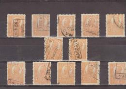 1919/1920 - FERDINAND I   Mi No 261Y  Et Yv No 284( Papier Blanche ) LOT X 12 - 1918-1948 Ferdinand, Carol II. & Mihai I.