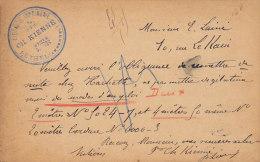 France Postal Stationery Ganzsache Entier Sage Libraire CH. KIENNÉ, RETHEL Ardennes 1891 To PARIS (2 Scans) - Ganzsachen