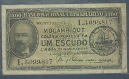 #07. MOZAMBIQUE. 1$00. UM ESCUDO. 23/5/1944. Pick 92. BEAUTIFUL CONDITION - Mozambique
