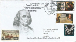 USA 2005 Webster Ben Franklin First Postmaster General Post Cover - Post