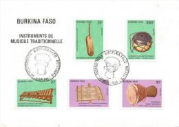 Burkina Faso 1987 Ouagadougou Musical Instruments FDC Cover - Burkina Faso (1984-...)