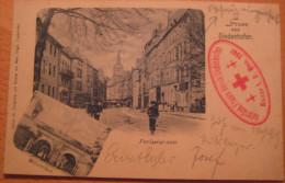 Rare Thionville Gruss Aus Diedenhofen Avec Cachet Vaterland Frauen Verein Bazar 1 1901 - Thionville