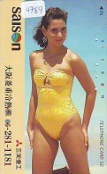 Télécarte Japon EROTIQUE (4789) EROTIC *  *  Japan PHONECARD EROTIK * BIKINI GIRL * FEMME  SEXY LADY - Moda