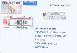 France 2011 La Rochelle EMA ATM Meter Franking Barcoded Registered Cover - 2010-... Geïllustreerde Frankeervignetten
