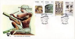 Venda - 1983 History Of Writing FDC # SG 75-78 , Mi 74-77 - Archeologia