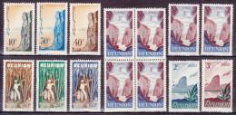 Lot De 14 Timbres-poste Gommés Neufs** - Série Courante - N° 262-263-264-265-266-267-268-271-272 (Yvert) - Réunion 1947 - Ungebraucht