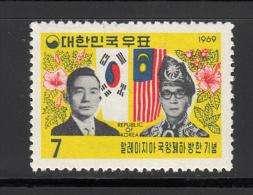 Korea     Scott No.   634   Unused Hinged      Year  1969 - Korea (Zuid)