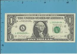 U. S. A. - 1 DOLLAR - 1988 A - REMPLACEMENT NOTE - Pick 480b - SAN FRANCISCO - CALIFORNIA - Billets De La Federal Reserve (1928-...)