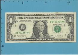 U. S. A. - 1 DOLLAR - 2001 - Pick 509 - NEW YORK - Billetes De La Reserva Federal (1928-...)