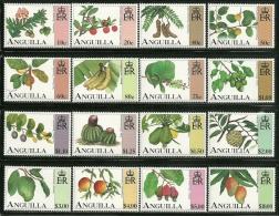 "Anguilla     ""Fruits""     Set    SC# 952-67   MNH** - Anguilla (1968-...)"