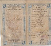 25. COUTEFONTAINE .- CARTE INDIVIDUELLE D' ALIMENTATION - Cattin Gabrielle - Documentos Históricos