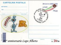 Italy 2014 Cancel Milano Comics Fumetti Lupo Alberto Cartolina Postale Repiquage - Fumetti