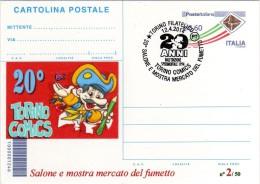 Italy 2014 Cancel Torino Comics Fumetti Cartolina Postale Repiquage - Fumetti