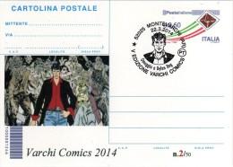 Italy 2014 Cancel Montevarchi Comics Fumetti Dylan Dog Cartolina Postale Repiquage - Fumetti