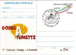 Italy 2014 Cancel Godega Di Sant'Urbano Comics Fumetti Napoleone Cartolina Postale Repiquage - Fumetti