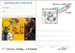 Italy 2014 Cancel Godega Di Sant´Urbano Comics Fumetti MISTER X Cartolina Postale Repiquage - Fumetti