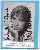 MICHEL COGONI Carte Dédicacée--animateur Vedette  Sur  Radio Mote Carlo-RMC-  Années 60 - Spettacolo