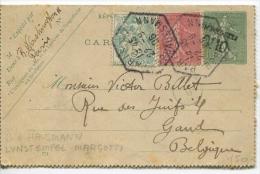 Carte De  PARIS Vers Gand (Belgique) 1906 + GAND ARRIVEE AU VERSO - Non Classificati