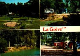 85-L'AIGUILLON SUR VIE...CAMPING-CARAVANING LA GREVE...CPM 4 VUES - Autres Communes