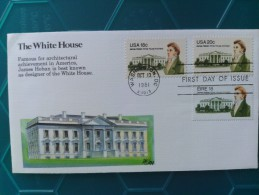 1981 Joint USA / Ireland James Hoban Death 150th Anniv. Fleetwood FDC With Both US Plus 1 X Irish Stamps - Emissions Communes
