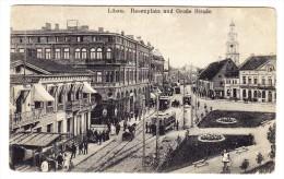 Lettland - LIBAU - Rosenplatz Und Grosse Strasse - Lettonie