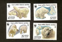 E8-10. Russia USSR 1987 Mi 5694 - 5697  FAUNA Animals White Bears Bear WWF - 1923-1991 USSR