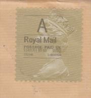 GB, Royal Mail A, Adhésif Non Dentelé, 2012, Sur Lettre Pour La France - Universal Mail Stamps
