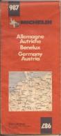 Cartes Michelin 987 - 1978 - Allemagne - Autriche - Benelux - Cartes Routières