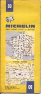 Cartes Michelin 80 - 1977 - Rodez - Nîmes - France - Cartes Routières