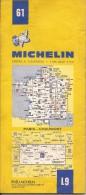 Cartes Michelin 61 - 1979 - Paris - Chaumont - France - Cartes Routières