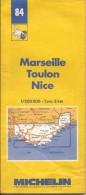 Cartes Michelin 84 - 1987 - Marseille - Toulon - Nice - France - Cartes Routières