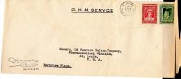 Newfoundland 1938 OHMS Cover Mailed To USA - 1908-1947
