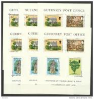 1976 Guernsey VICTOR HUGO 18 Foglietti (BF.1) Di 4v. MNH** 18 Souv. Sheets - Guernesey