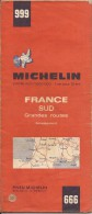 Cartes Michelin 999 - 1969 -  France Sud - Grandes Routes - Cartes Routières
