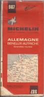 Cartes Michelin 987 - 1971 -  Allemagne - Benelux - Autriche - Grandes Routes - Cartes Routières