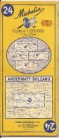 Cartes Michelin 24 - 1971 - Andermatt - Bolzano - Cartes Routières