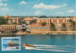 D17600 CARTE MAXIMUM CARD RR 1986 NETHERLANDS ANTILLES - LOCAL ARCHITECTURE FISH MARKET AT BONAIRE CP ORIGINAL - Architecture
