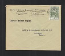 Couvert Cours De Bourse 1952 Anvers - Belgio