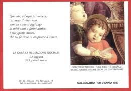 CALENDARIO FORMATO PICCOLO - CALENDARIETTO - 1997 - Casa Di Redenzione Sociale Milano - Calendari