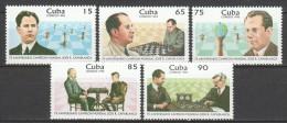 Cuba 1996 Mi 3954-3958 MNH CHESS - Ajedrez