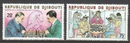 Djibouti 1980 Mi 278-279 MNH CHESS - Schaken